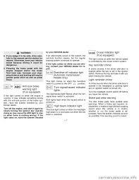 nissan sentra malfunction indicator light nissan sentra 1996 b14 4 g owners manual