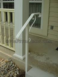 Porch Steps Handrail Elegant One Step Wrought Iron Hand Rail And Post My Cute House