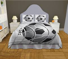 Personalized Comforter Set Soccer Comforter Twin Queen King Boys By Eloquentinnovations