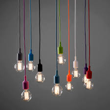 Funky Pendant Lighting Epic Coloured Cord Pendant Lights 77 About Remodel Retractable