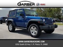 used jeep rubicon for sale pre owned 2010 jeep wrangler for sale in ft pierce fl at garber