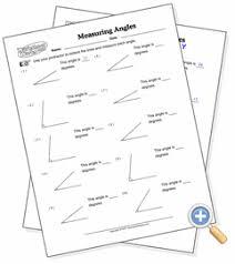 measuring angles worksheetworks com