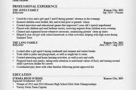 Babysitter Resume Template Babysitter Resume Objective 28 Resume Templates For Freshers Free