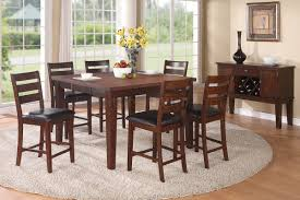 dining set counter height 5pc walnut by poundex w options