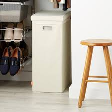 Clothes Hampers With Lids Linen Poppin Laundry Hamper With Lid The Container Store