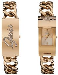 gold guess bracelet images Women 39 s rose gold guess iconic id bracelet watch u0321l3 gif