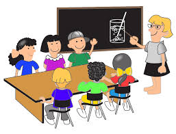 Picture Of Student Sitting At Desk Student Desk Clipart