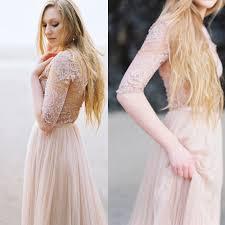 blush wedding dress with sleeves need help finding blush or non white sleeved wedding dress