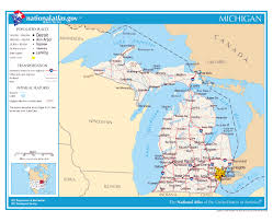 Indiana Road Map Maps Of Michigan State Collection Of Detailed Maps Of Michigan