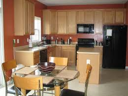 amusing paint color ideas for kitchen with oak cabinets nice