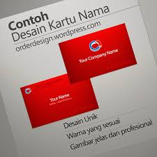 desain kartu nama yang bagus desain kartu nama odbrand