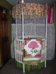 Circle Crib With Canopy by Nursery Bedding Baby
