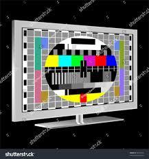 tv color test pattern test card stock vector 69416428 shutterstock
