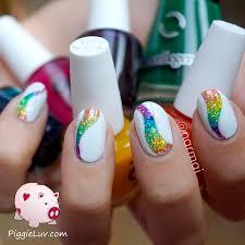 piggieluv glitter tornado nail art with opi color paints