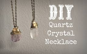 make crystal pendant necklace images Diy quartz crystal necklace jpg