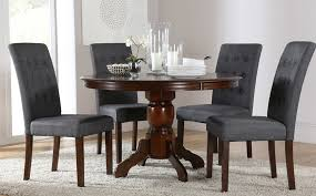 dining tables stunning dark wood round dining table dark wood