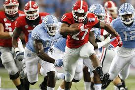 wholehogsports nick chubb runs for 222 to lead unc