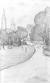 l s lowry lowry original peel park sketch 4 drawing