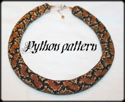 beaded crochet necklace pattern images Python snake skin bead crochet rope necklace pattern jpg