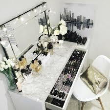 Makeup Table Table Captivating Pinterest Charlottegrac3 Makeup Vanities Diy