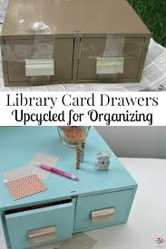 Organize A Craft Room - library card drawers to organize a craft room organized 31