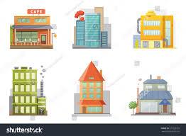 House Flat Design by Flat Design Retro Modern City Houses Stock Vector 577223155