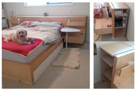 Beds With Bookshelves The Original Ikea Malm Billy Head Board And Under Bed Storage Hack