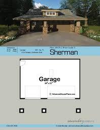 craftsman style garage plan sherman