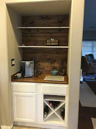 Coffee Bar Cabinet Diy Beverage Bar Perfectly Inspired