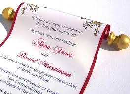 wedding scroll invitations umesh shinde