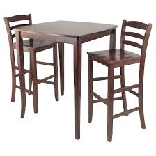 Ladder Back Bar Stool 3 Piece Inglewood Set High Table With Ladder Back Bar Stools Wood