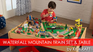 Brio Train Table Set Children U0027s Waterfall Mountain Train Set U0026 Table Toy Review Youtube