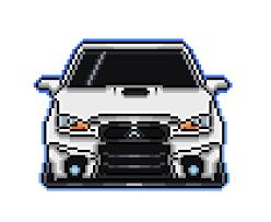 pixel art car mitsubishi lancer evo pixel art maker