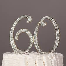 60 cake topper 60 cake topper for 60th birthday or anniversary gold