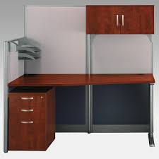 Bush Computer Desk With Hutch by Bush Office In An Hour Melamine U Shaped Double Workstation