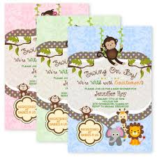 baby shower invitations jungle theme baby shower decoration