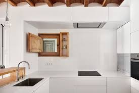 White Subway Tile Kitchen by Apartment White Kitchen Apartment In Eixample Designed By
