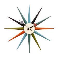 Starburst Design Clip Art George Nelson Wall Clock Starburst Clock Multicolor Design Clocks