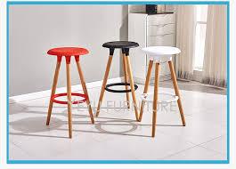 Modern Wood Bar Stool Minimalist Modern Design Plastic And Solid Wood Bar Stool Wooden