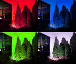 rgb landscape lights rgb color changing in ground led landscaping