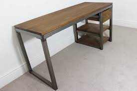 Uk Office Desks Industrial Desks Bespoke Vintage Style Office Uk Oak Steel