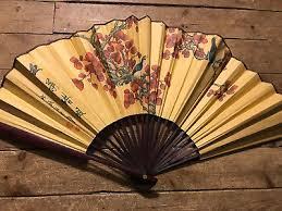 oriental fan wall hanging 24 chinese oriental peacock handpainted folding paper wall hanging