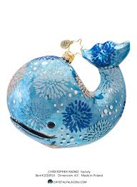 decor sblue spouty ornament by christopher radko