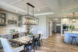 Chandeliers For Dining Room Contemporary Contemporary Dining Room With Hardwood Floors Chandelier In