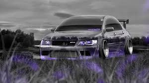 purple mitsubishi lancer mitsubishi lancer evolution jdm tuning crystal nature car 2014