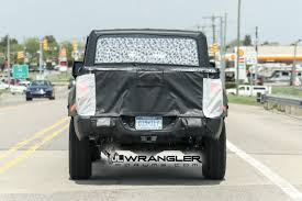 2019 jeep wrangler pickup truck new spy photos of the 2019 jt wrangler pickup truck