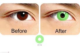 geo crazy halloween contact lenses cp f4 green