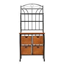 Metal Storage Shelves Furniture Awesome Design Ideas Of Kitchen Bakers Racks Vondae