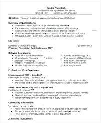 resume exles for pharmacy technician sle resume of pharmacist pharmacy technician resume exle 9