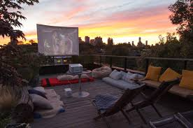 home outdoor theater easy diy outdoor cinema will make your yard the ultimate place for